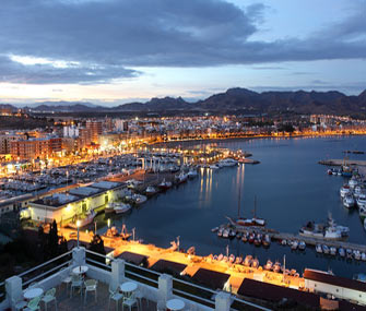 picture of Murcia city by night